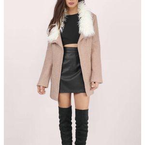 Tobi Florence Faux Fur Collar Coat